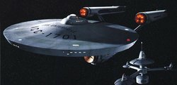 The starship Enterprise from the