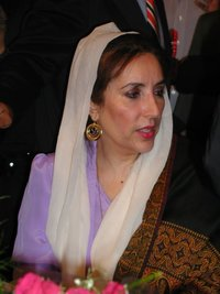 Benazir Bhutto at a  event in Newark, CA,