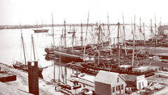 View of historical New Bedford harbor