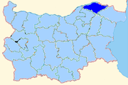 Silistra province shown within Bulgaria